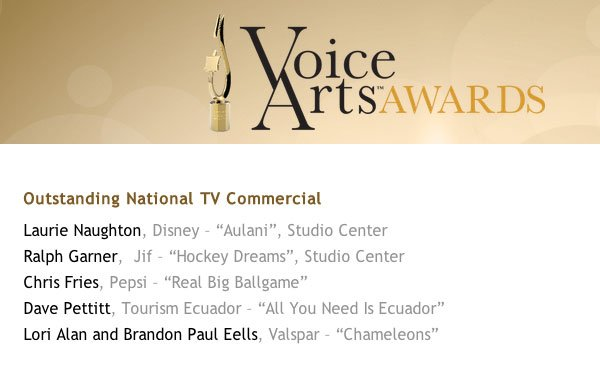 2014 Voice Arts Awards - Outstanding National TV